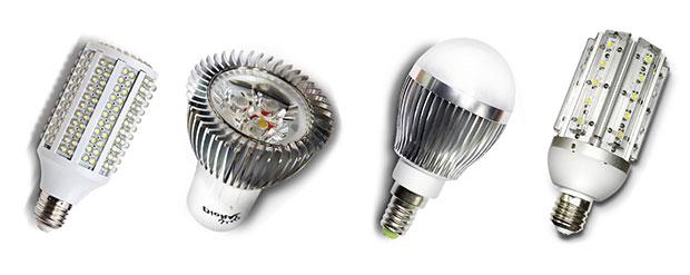 Светодиодные лампы для дома с цоколями Е27, Е14