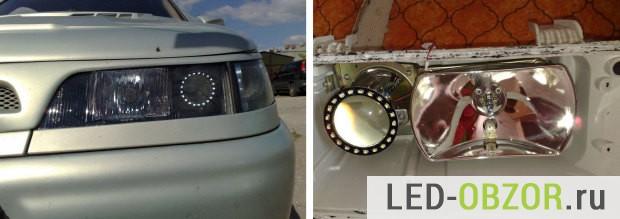 Глазки СМД3528 на ВАЗ 2110