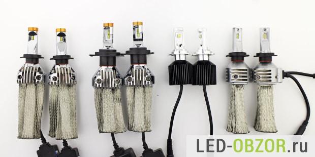 Автомобильные лампы с цоколем H4, H7, H11, имитация нити накала  CL6