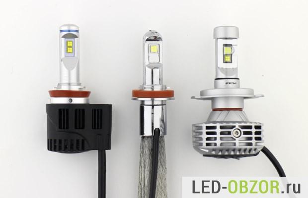 Светодиодные лампы для авто H11, H4, ближнего и дальнего света