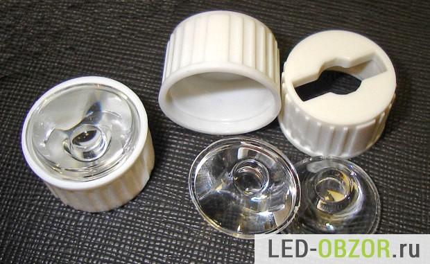 Обычные круглые линзы для эмитеров 1W и 3W
