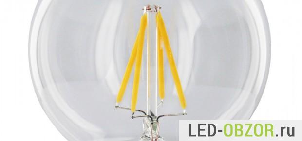 Светодиоды Filament LED в лампе