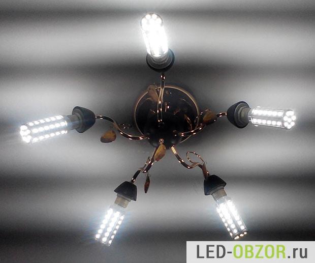 Пример мигания LED  ламп в люстре
