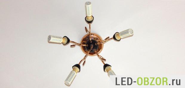 Хайтек на светодиодных лампах Е14