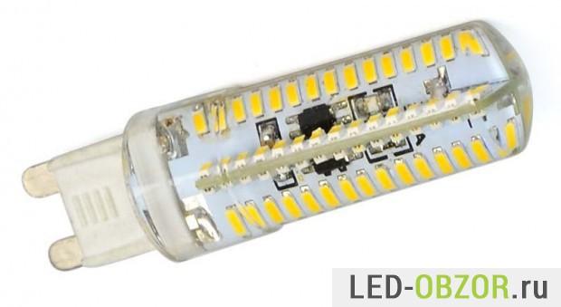 Самая мощная G9 на 6W и 380 Лм., 104 светодиода.