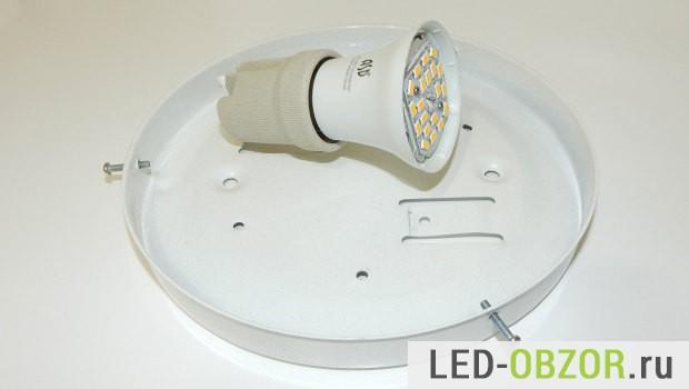 Сковорода с источником света