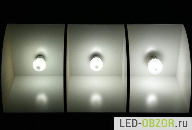 Тест с другими LED Крии: 60, 75, 100 Ватт.