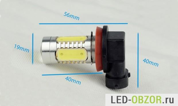 Размеры обычной лампы для противотуманных фар