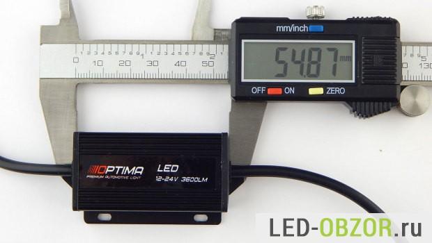 Обзор светодиодных ламп H7 от Optima