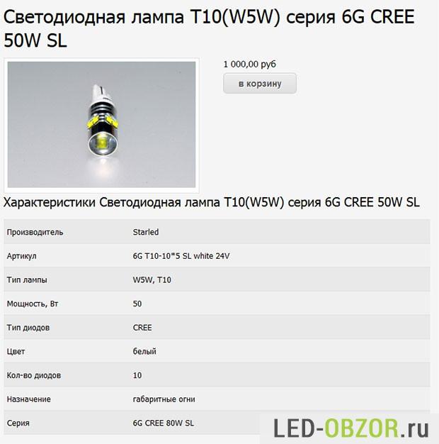 LED лампа из  магазина madled.ru