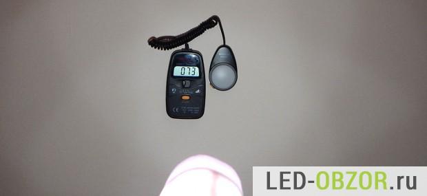 Измеряем освещенность новой светодиодной лампы