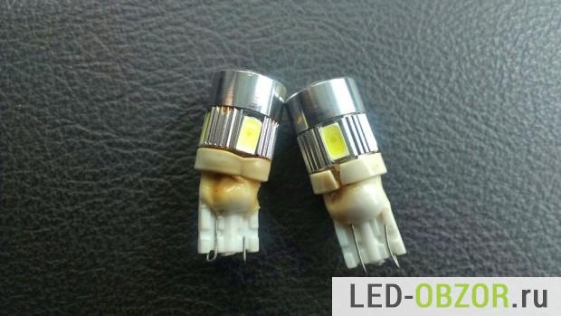 Пример оплавления лампы на 1 Вт от галогенки