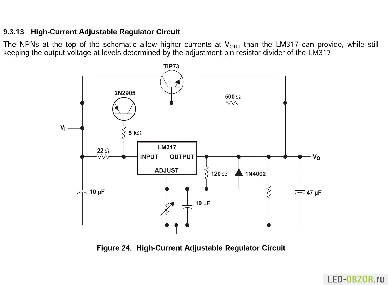 Lm317 Lm317t Datasheet Adjustable Voltage Regulator Rs1600 Online