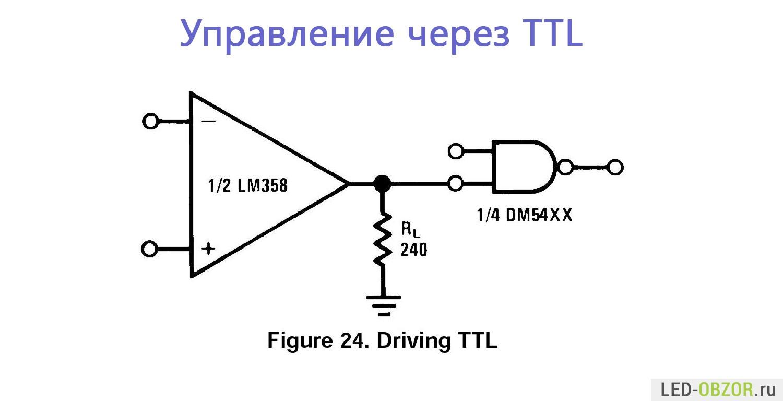 включение светодиодов в схему на 24 в