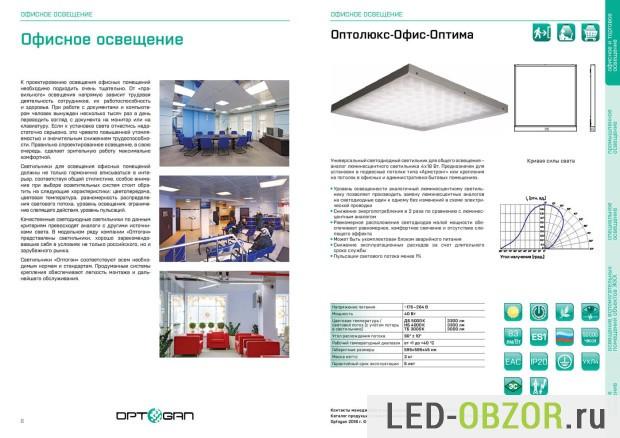 Светодиодные светильники Оптоган
