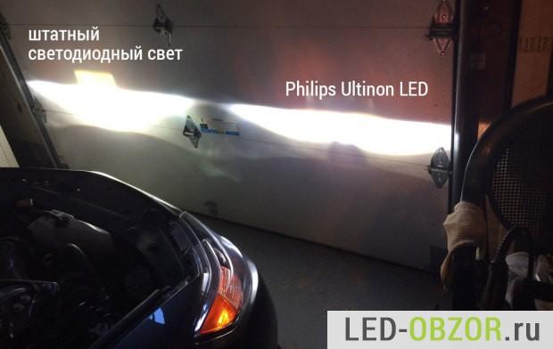 Сравнение ближнего света с заводскими светодиодами