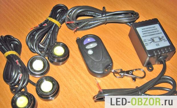 Как подключить ходовые огни, схема подключения дхо