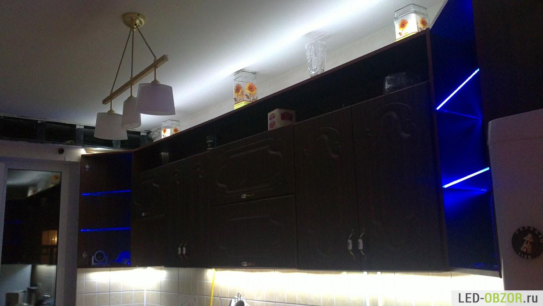 Светодиодная подсветка для кухни под шкафы своими руками фото