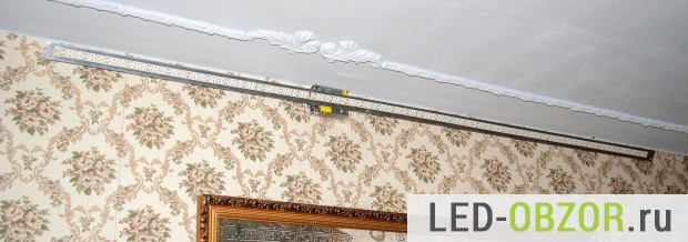 Подсветка потолка светодиодной лентой своими руками