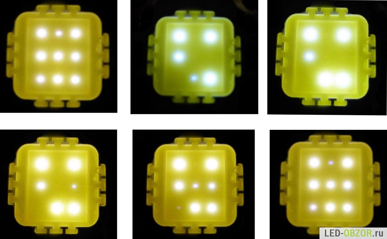схема мягкого мигающих светодиодов