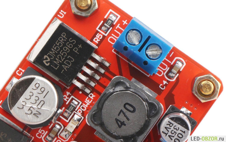 схема стабилизатора тока для светодиода 10а