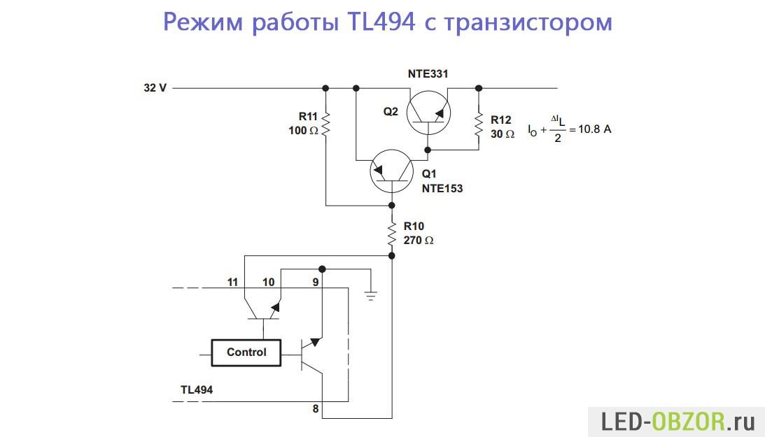 описание схемы включения tl494