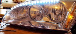 Гибкая светодиодная лента для авто в фары